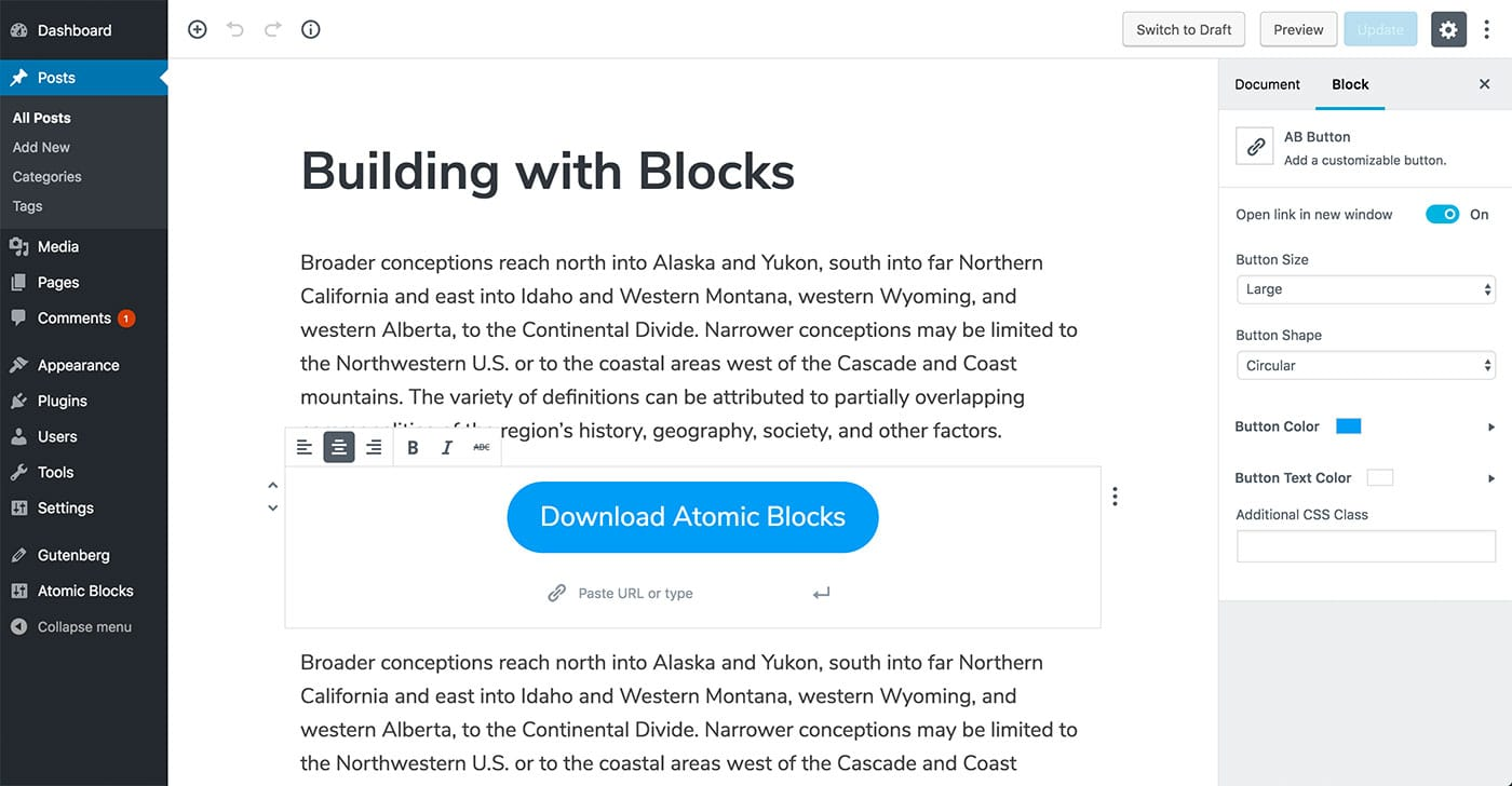atomic blocks button block